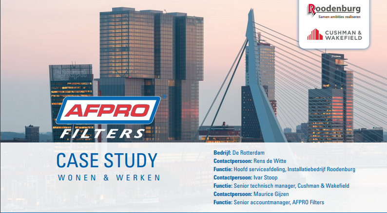 ENERGY EFFICIENT EPM1 AIR FILTER FOR BUILDING THE ROTTERDAM
