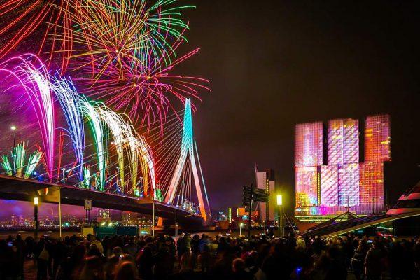 vuurwerk oudejaarsavond 2018 de rotterdam
